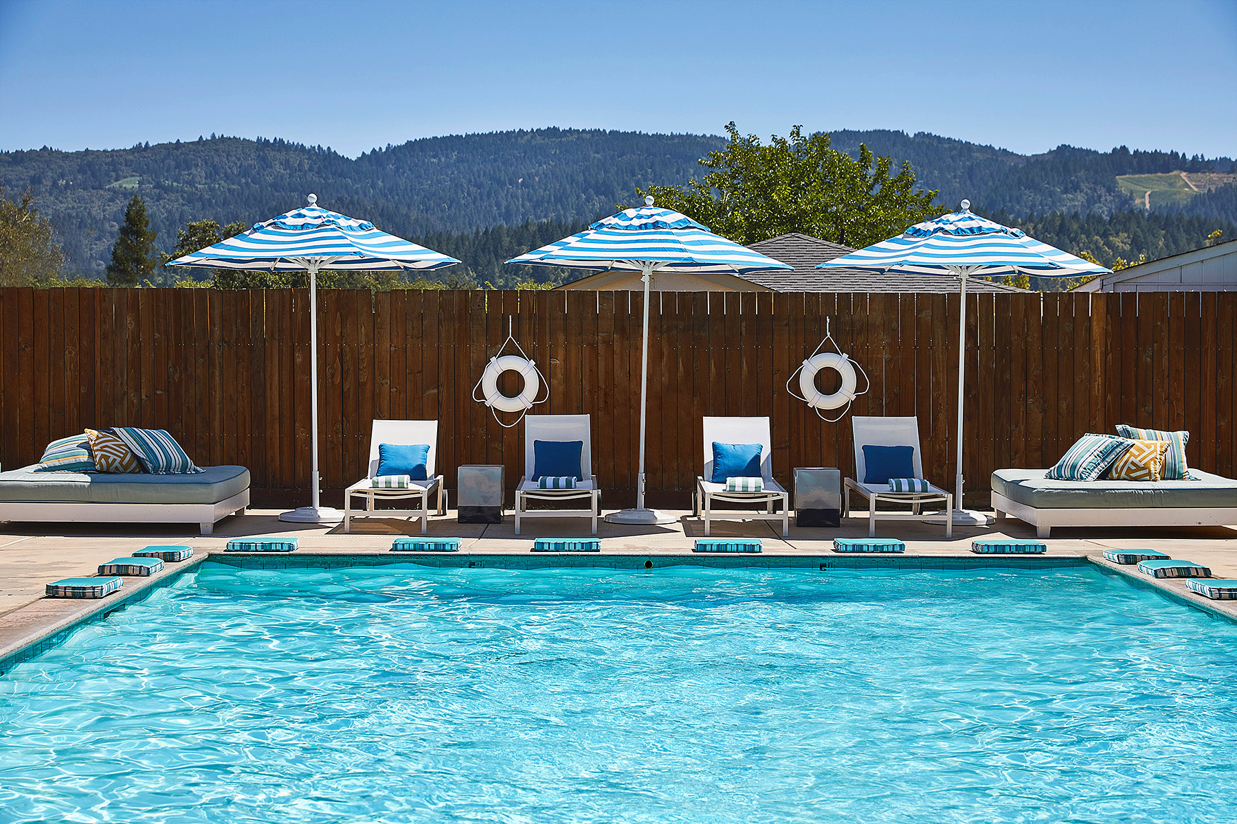 el diseno del hotel Calistoga Motor Lodge and Spa