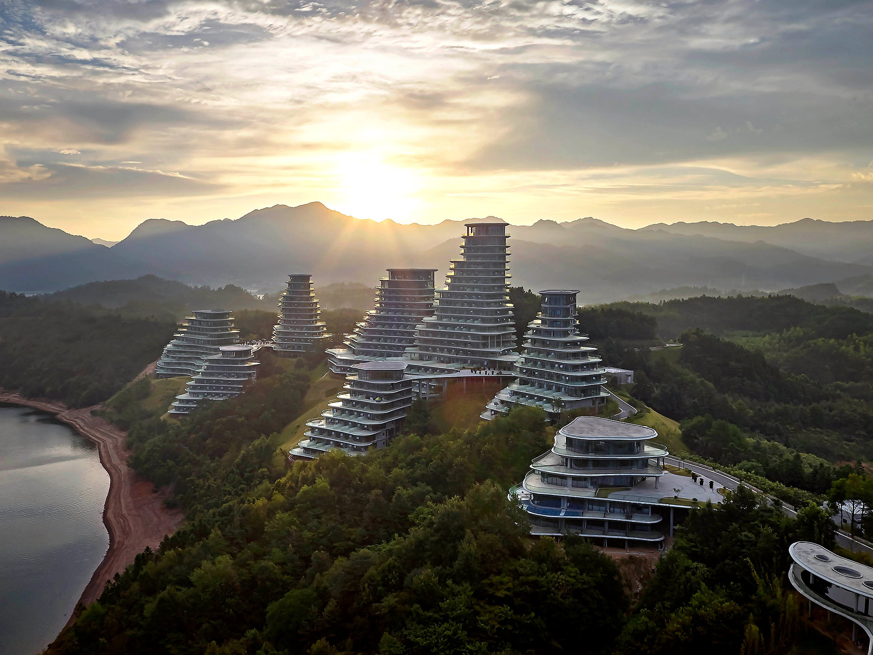 La arquitectura natural de Huangshan Mountain Village